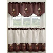 Ruffled Kitchen Curtains by Window Tiers Beddingtrends
