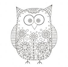 owl zentangle coloring page to color pinterest zentangle