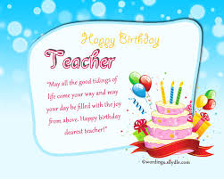 birthday greeting cards for teachers birthday wishes for