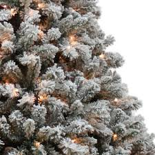 donner blitzen 9 alberta flocked spruce tree with