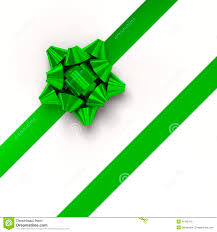 green gift bow green gift ribbons in diagonal array stock illustration