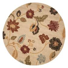 home decorators collection atlas red 7 ft 9 in round area rug