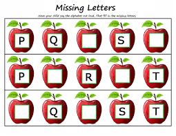 maths worksheets kids kindergarten missing letters maths