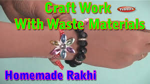 rakhi craft work with waste materials learn craft for kids