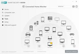 list of smart devices eset connected home monitor flags iot threats eset