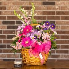 basket of flowers lumberton florist flower delivery by sherman s florist
