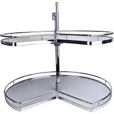 lazy susan cabinet sizes two shelf kidney shape chrome plated lazy susan all cabinet parts