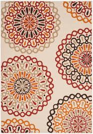 3 X 5 Indoor Outdoor Rugs by Safavieh Veranda Ver092 0313 Creme And Red Area Rug Free Shipping