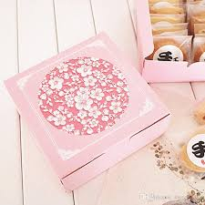 cookie box favors square pink cookie biscuit candy box gift package box small cake