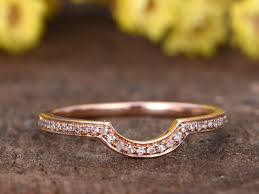 plain engagement ring with diamond wedding band diamond wedding bands for 14k gold curve half eternity