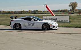 lexus lfa race car lexus pits lfa nurburgring against business jet in 9600 foot shootout