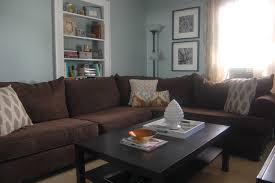 Blue Table L Brown And Black Living Room Iranews With L Shaped Velvet Sofa