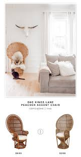 one kings lane home decor one kings lane peacock accent chair copycatchic