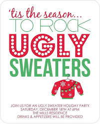 ugly sweater christmas party invitations blueklip com