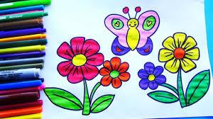 imagenes de mariposas faciles para dibujar como dibujar y colorear flores y una mariposa dibujos fáciles para