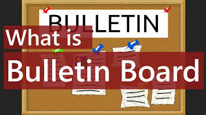 what is bulletin board digital bulletin board meaning explained