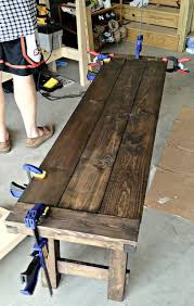 How To Make Dining Room Table by Best 25 Farmhouse Bench Ideas On Pinterest Diy Bench Benches