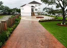 galveston stamped concrete driveway surecrete products