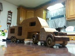 wooden pickup truck wooden toy ford f 350 truck with camper youtube