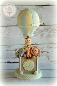 hot air balloon cake topper hot air balloon fondant cake topper for baby shower 1st