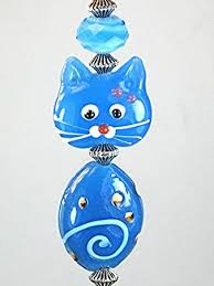 cat ceiling fan pulls blue glass kitty cat ceiling fan pull chain light pull ceiling