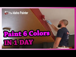 paint 6 colors in 2 rooms in 1 day how to paint a room super fast