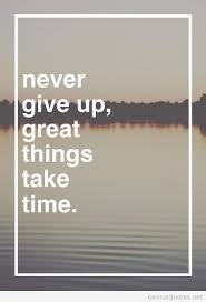 time never give up motivational quote