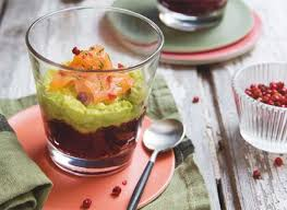 cuisine verrine recettes de verrines betterave avocat saumon
