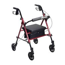 senior walkers with seat adjustable seat height rollator