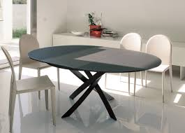 Extending Dining Table And Chairs Uk Bontempi Barone Extending Round Dining Table Go Modern Furniture