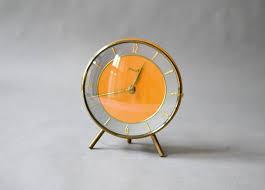 Modern Desk Clock Vintage Teak Desk Clock Table Clock Kienzle West German Mid