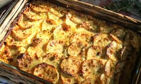 garlic and herb potato gratin and a foodie thanksgiving