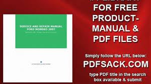 service and repair manual ford mondeo 2007 video dailymotion