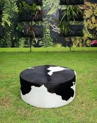 Cowhide For Sale Ottomans Cowhide Ottoman Cube Round Coffee Table Lind Round
