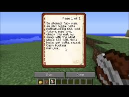 what to write a paper on how i write a book in minecraft youtube