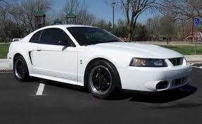2001 Black Mustang White 2001 Cobra With Black Wheels Mustang Cobra Svt
