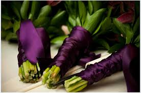 eggplant ribbon beautiful floral bouquets wrapped with eggplant purple ribbon
