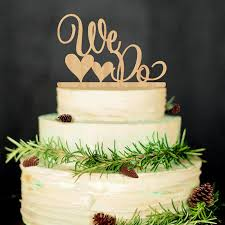 wooden wedding cake topper we do with heart wooden letters cake