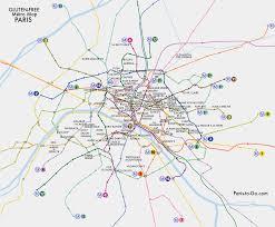 Paris Map Metro by