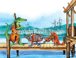 greeting cards cajun greeting cards pier musicians note