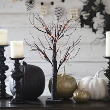 make a dead branch centerpiece for halloween easy crafts and
