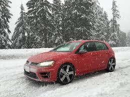 golf volkswagen 2016 review 2016 volkswagen golf r in the snow subcompact