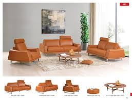 Leather Living Room Chairs 531 Leather Modern 3 Pcs Sets Living Room Furniture