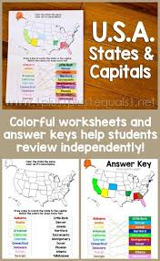 u s a states and capitals worksheets 1 1 1 u003d1 states and