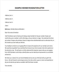 membership resignation letters template 8 free word pdf format