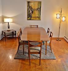 mid century john van koert drexel profile dining set 6 chairs u0026 3