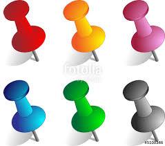 punaise bureau lot de punaises vectorielles stock image and royalty free vector
