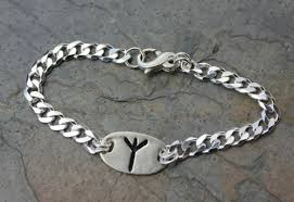 handmade silver charm bracelet images Rune shield bracelet handmade fine silver charms protection jpg