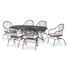 Motion Patio Chairs Hamlake 7 Piece Wrought Iron Motion Patio Dining Set Target