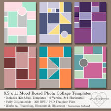 8 5 x11 photo album 8 5x11 photo mood board template pack 12 templates photo collage